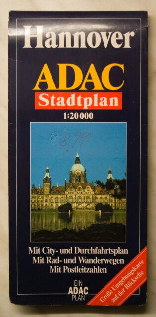 ADAC Stadtplan Hannover, 1:20.000 mit Umgebungskarte - fast neuwertig