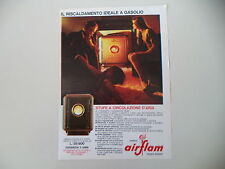 advertising Pubblicità 1967 STUFE A GASOLIO AIRFLAM