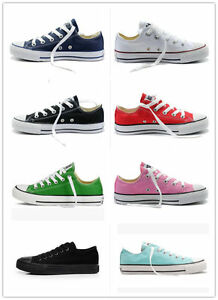 HOT-Women-Man-ALL-STARs-Chuck-Taylor-Ox-Low-High-Top-shoes-Canvas-Sneakers
