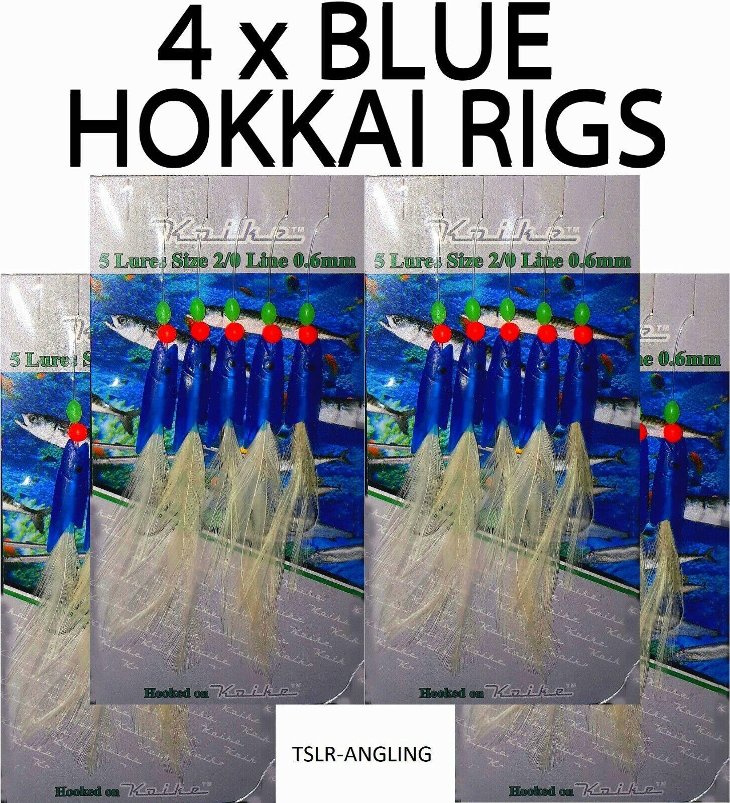 COD POLLOCK MACKEREL RIGS BLUE HOKKAI RIG SEA FISHING TACKLE LURES