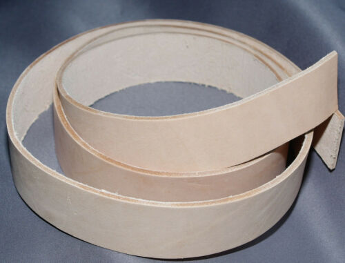 Veg Tan 3.5mm Handmade Leather Belt Strip butt craft larp hobby stain to colour
