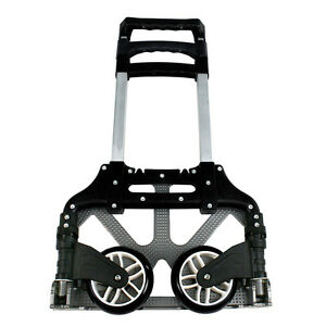 170 lbs Aluminium Cart Folding Dolly Push Truck Hand Collapsible Trolley Luggage