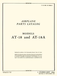 LOCKHEED-HUDSON-PARTS-CATALOG-MODELS-AT-18-amp-AT-18A-1944