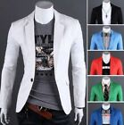 New Fashion Stylish Men's Casual Slim Fit One Button Suit Blazer Coat Jacket Top
