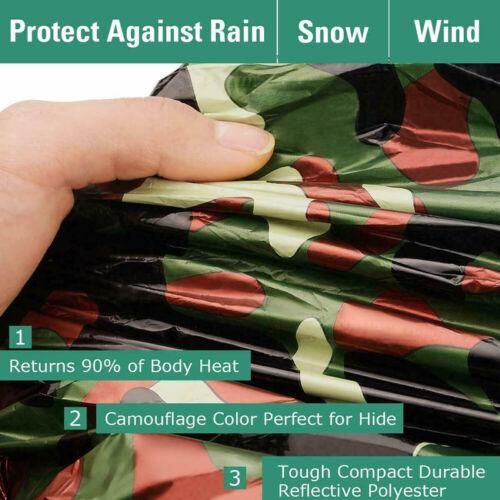 Reusable Waterproof Camouflage Emergency Sleeping Bags Thermal Survival Camping