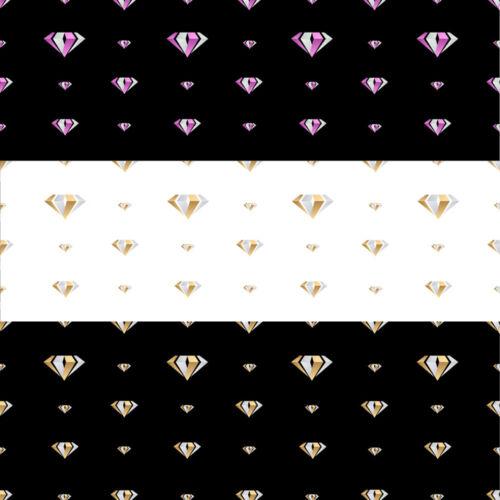 Wholesale Unique Diamond Design Gift Wrap 12 sheets-3 Colours-.High Quality A3
