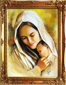 Religion-Mary-Handmade-Oil-Painting-Picture-Oil-Frame-Pictures-G01030