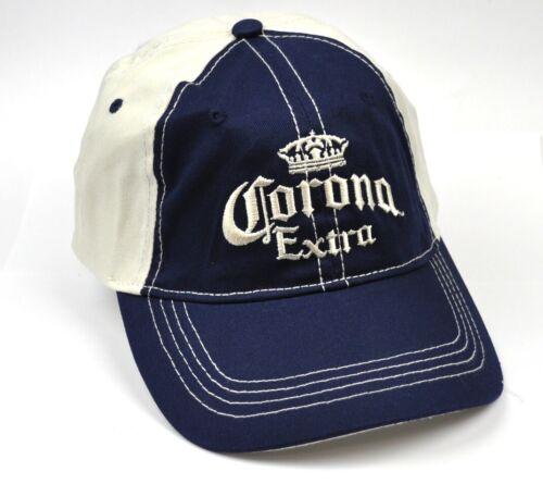Corona Extra Bier USA Kappe Mütze Baseball Cap Käppi Schirmmütze blau-weiß