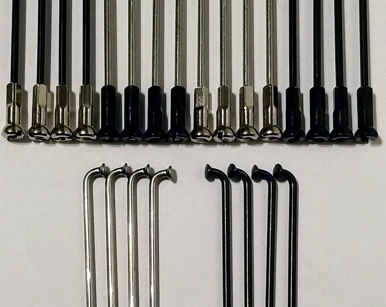 "New MTB Road BMX Bicycle Bike Brass Spoke Nipples 2.0mm 14G 1//2/"" 72 Pcs Black"