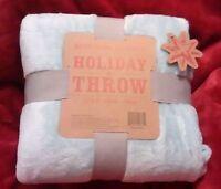 Berkshire Blanket Holiday Throw 55 X 70 Velvet Super Soft Pale/light/baby Blue