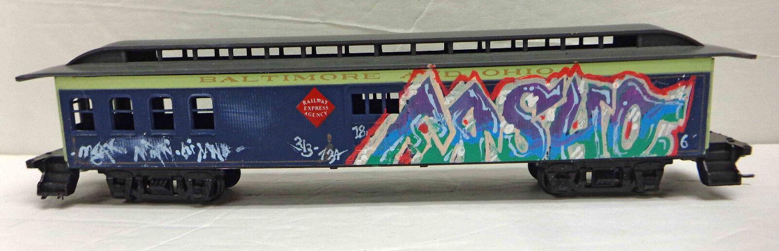 HO Scale Baltimore & Ohio Hand Painted Graffiti Passenger Car
