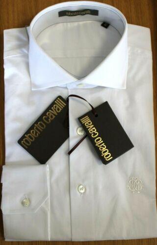 ROBERTO CAVALLI Hemd Gr 41 weiß Cotton Haute Couture pur NEU UVP 300 EUR