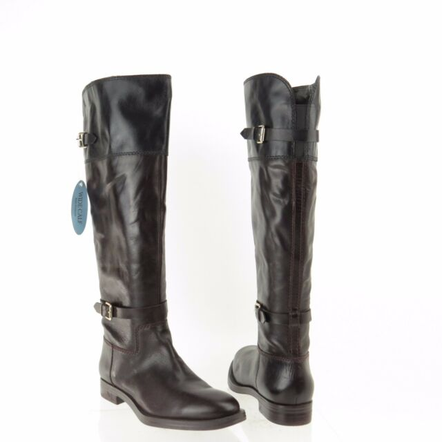 abebfb120d74 Womens Enzo Angiolini EERO Black Brown Leather Wide Calf Boots Sz 6.5 M NEW   200