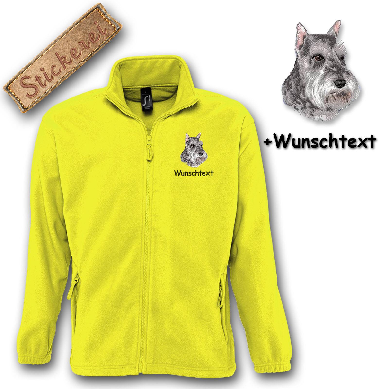 Fleece Jacke bestickt Stickerei Hund Leonberger M1 Wunschtext