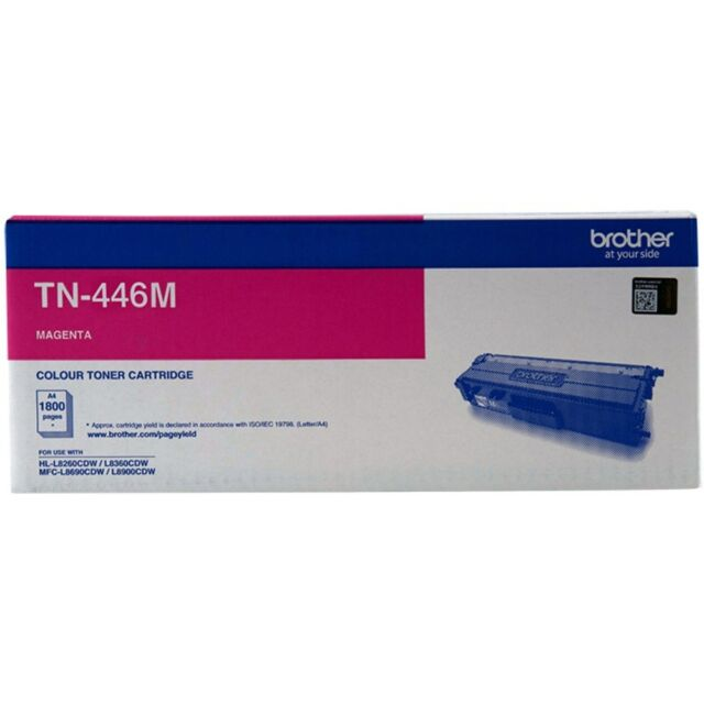 Brother Genuine TN-446M MAGENTA Extra H/Yield Toner L8360CDW L8900CDW 6.5K Pages