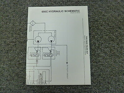 John Deere 690C Excavator Hydraulic System Schematic Diagram