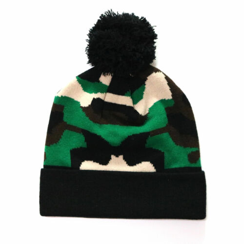 Men/'s Military Camouflage Camo Beanie Knit Pom Caps Hats Cap Cuff Hat Winter New