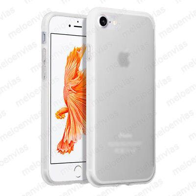 Funda + CRISTAL TEMPLADO Opcion para iPhone 8 silicona Gel TPU Mate TRANSPARENTE