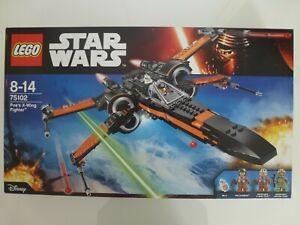 Lego-Star-Wars-75102-COMPLET-avec-boite-amp-notice-TBE-X-Wing-Fighter-de-Poe