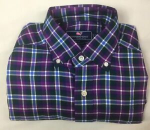 VINEYARD-VINES-Men-s-Classic-Fit-Murray-Shirt-Long-Sleeve-Plaid-Size-XS-NEW-NWOT