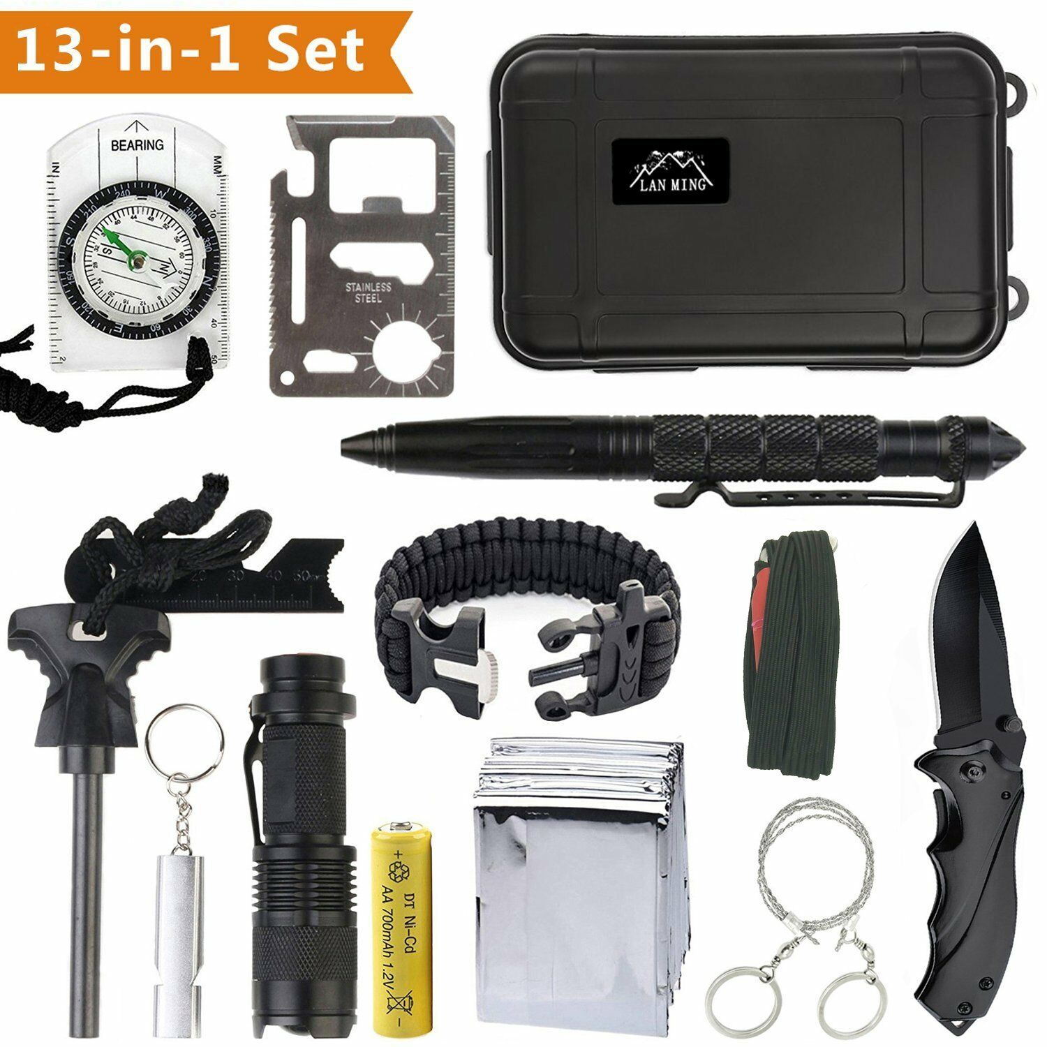 Kit survival Professional Squad  SOS's Emergency Hiking Camping  all in high quality and low price