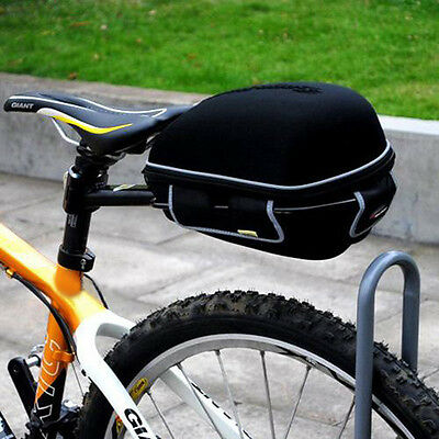 Excellent Cycling Bike Bicycle Frame Pack Bag with Gift Rain Cover + Rack Black