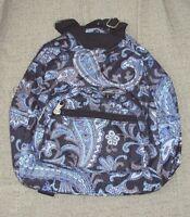 Toddler Child Girls Preschool Small Backpack Purse Blue Black White Paisley