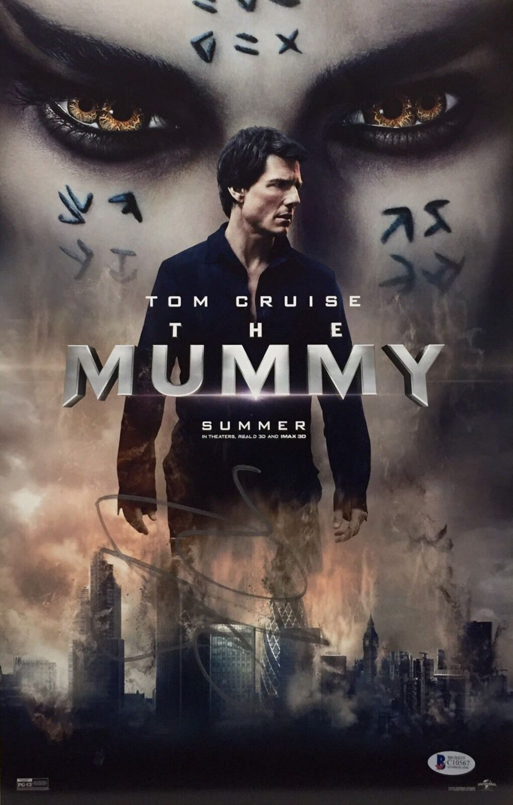 Sofia Boutella Signed 11x17 The Mummy Poster/Photo Beckett BAS