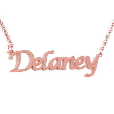 Name Chain Anniversary Jewelry VICTORIA 18ct Gold Plating Necklace With Name