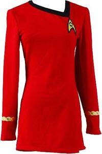 Star Trek The Female Duty Red Uniform Dress Cosplay Costume Suit