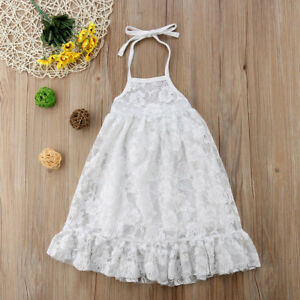 e1acc1897 Image is loading Newborn-Toddler-Kids-Baby-Girl-Party-Princess-Backless-