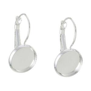 10Pcs-12mm-Round-Earring-Hooks-Cabochon-Tray-Setting-Base-Round-DIY-Craft
