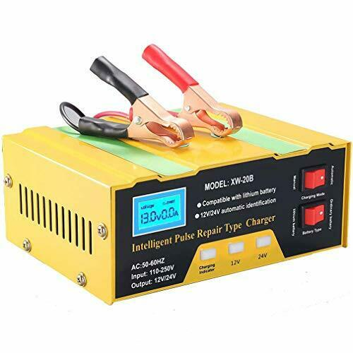 Car Battery Charger, 10A 12V/24V Automatic Smart Charger Monitor Charge