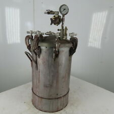 Industrial 15 Gallon Steel Pressure Pot Tank Pressurized Paint 110 Psi