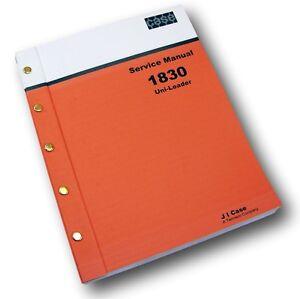 case 1830 skid steer uni loader shop manual service technical repair rh ebay com