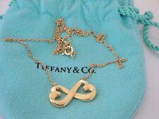 "Tiffany & Co. Paloma Picasso 18k Gold Double Loving Hearts Pendant Necklace 18""L"