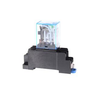 AC 220V Bobina Rel/é de potencia LY2NJ DPDT 8 Pin JQX-13F Base de enchufe de control Swtich