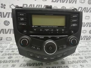 Image Is Loading 2005 Honda Accord Cd Player Head Unit Climate