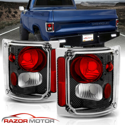 1973-1991 Chevy GM Blazer Suburban Pickup Truck Carbon Fiber Edition Tail Lights