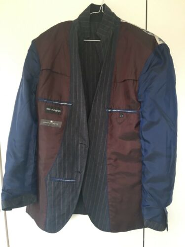 Size amp; Mens Linen Blazer Medium Marks Spencer Uk 102cm Blue Jacket Chest a10q1