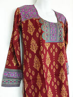 Printed Crepe Tunic Indian Kurti Kurta Top Ethnic Blouse For Women Clearance