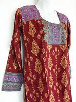 Printed Crepe Tunic Indian Kurti Kurta Top Ethnic Blouse For Women Clearance