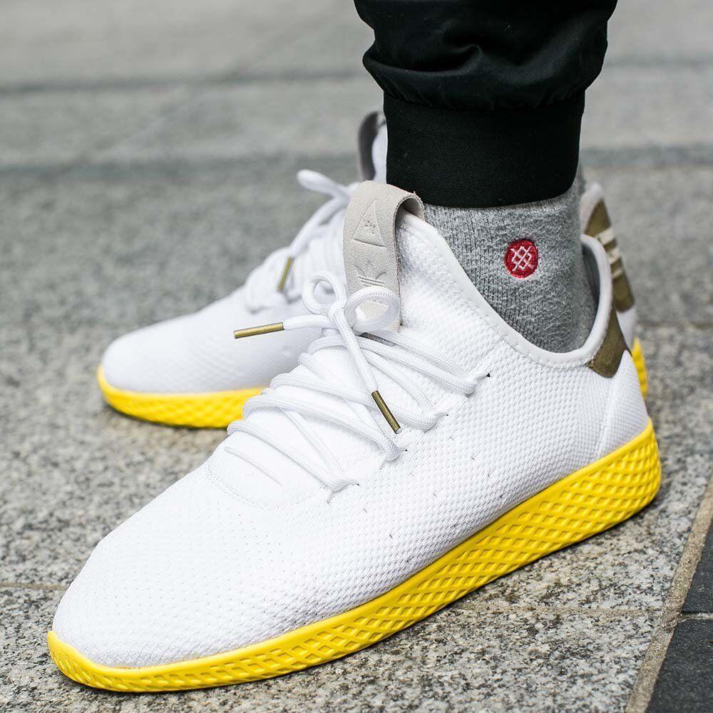 Adidas Pharrell Tennis HU PK Primeknit White Yellow BY2674 Size 13. nmd yeezy