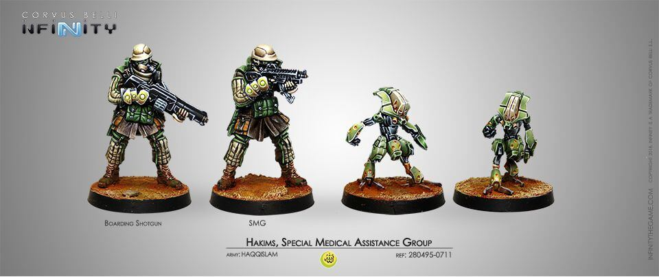 Infinity Haqqislam Hakims Special Medical Assistance Group Corvus Belli 280495