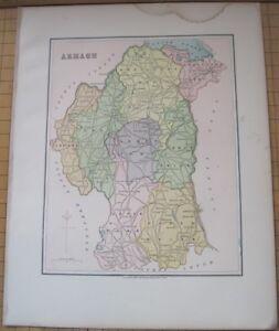 County Armagh Ireland Map.Irish Map County Armagh Baronies Lough Neagh Northern Ireland Thomas