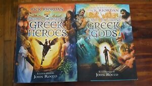 Details about Percy Jackson's Greek Heroes & Greek Gods by Rick Riordan  Hardcover