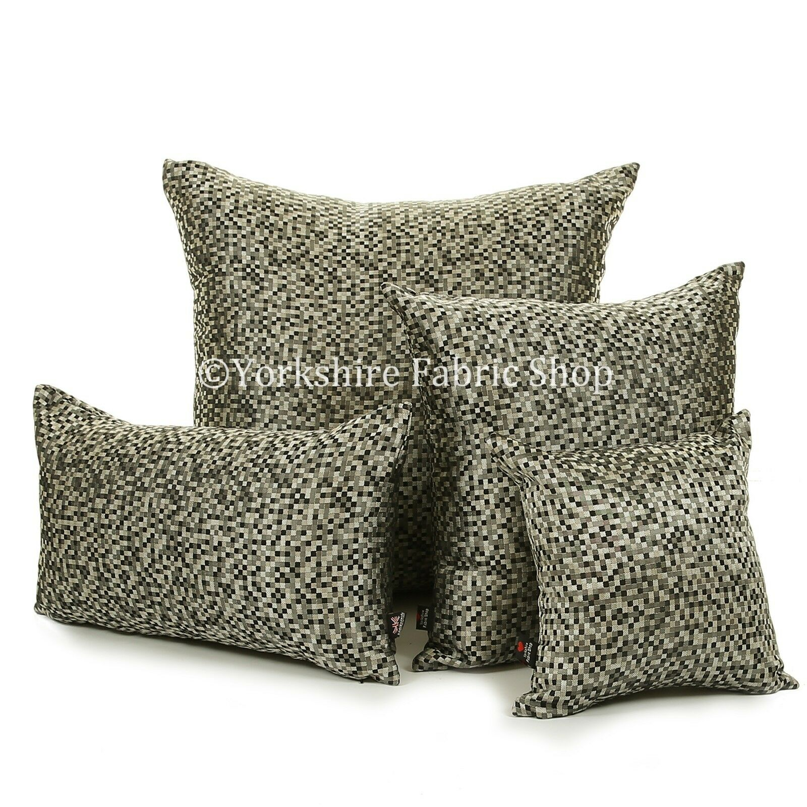 Nouvelle moderne polka small checked square checked small pattern handmade cushion cover & remplissage d21a46