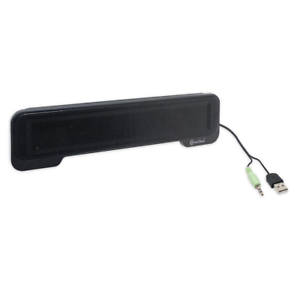 Syba USB Powered Portable Stereo Sound Speaker Bar Mounts to Laptop Screen