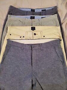 Lote De 4 J Crew Ajustados Pantalones 32 34 Ebay