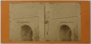 Algeria Moschea Da Sidi Bou Medina Foto Stereo Vintage Albumina c1875